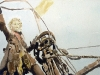 Störtebeker-Illustration, Piratenschiff am Morgen, Aquarell, 2006
